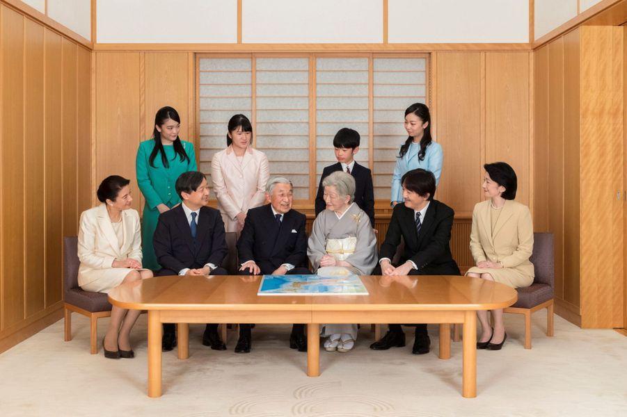 La famille impériale du Japon au Palais impérial à Tokyo le 3 décembre 2018. Photo diffusée le 1er janvier 2019