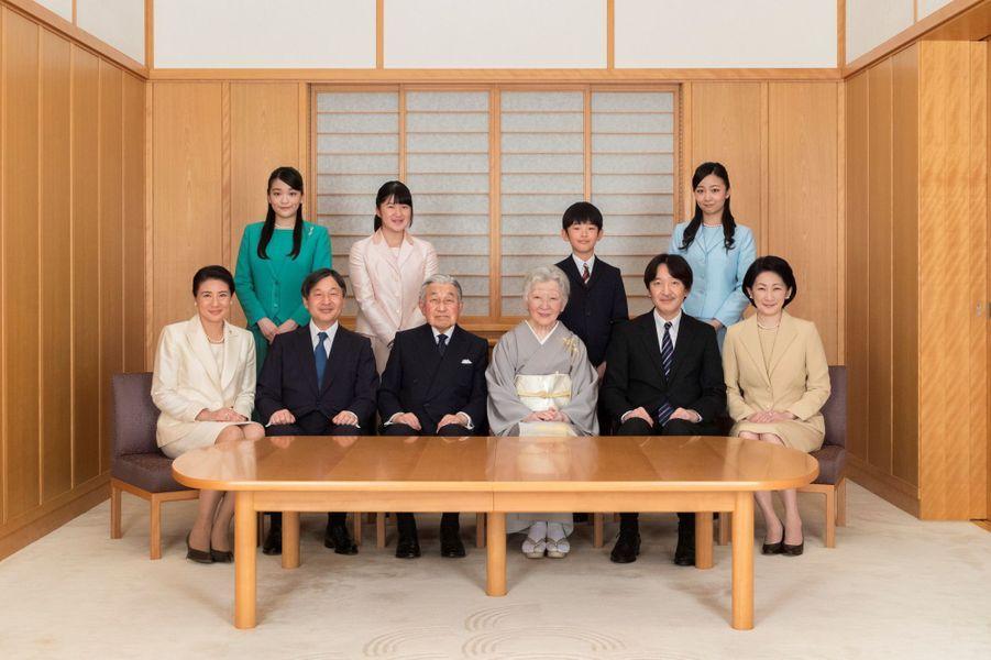 La famille impériale du Japon à Tokyo le 3 décembre 2018. Photo diffusée le 1er janvier 2019