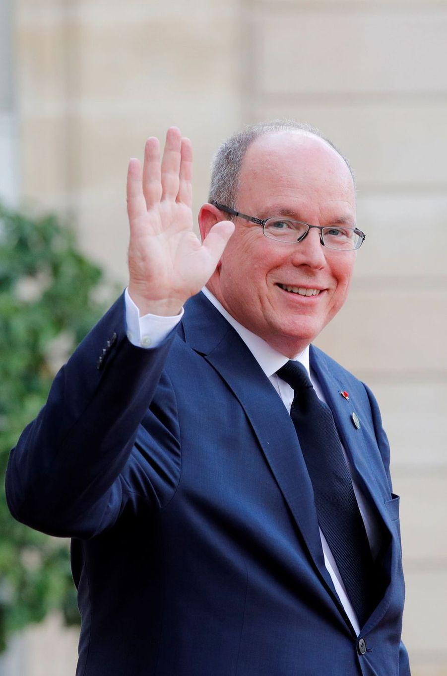 Le prince Albert II de Monaco au Palais de l'Elysée à Paris, le 30 septembre 2019