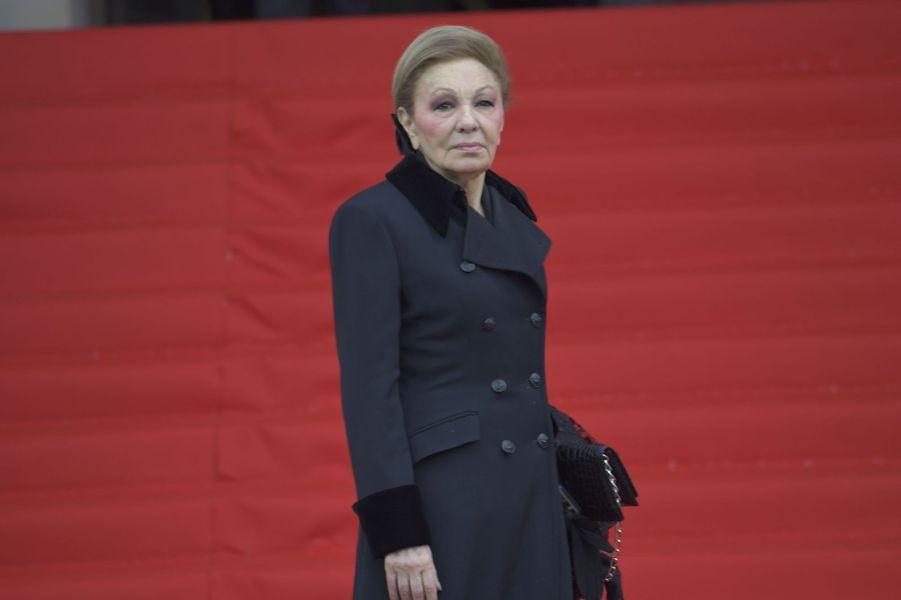 L'ancienne impératrice d'Iran Farah Diba Palavhi aux obsèques de Jacques Chirac à Paris, le 30 septembre 2019