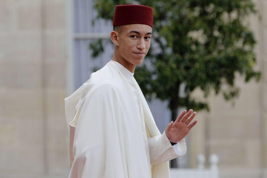 Le prince Moulay El Hassan du Maroc au Palais de l'Elysée à Paris, le 30 septembre 2019