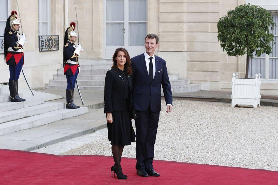 La princesse Marie et le prince Joachim de Danemark au Palais de l'Elysée à Paris, le 30 septembre 2019