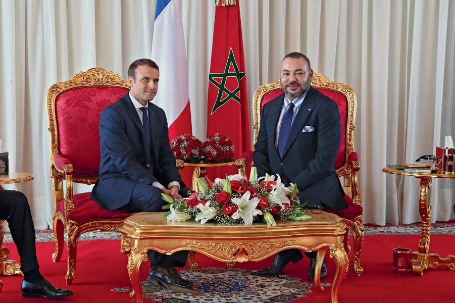 Une rencontre très cordiale. Le souverain alaouite a été un des premiers à féliciter le nouveau président français le soir de son élection.