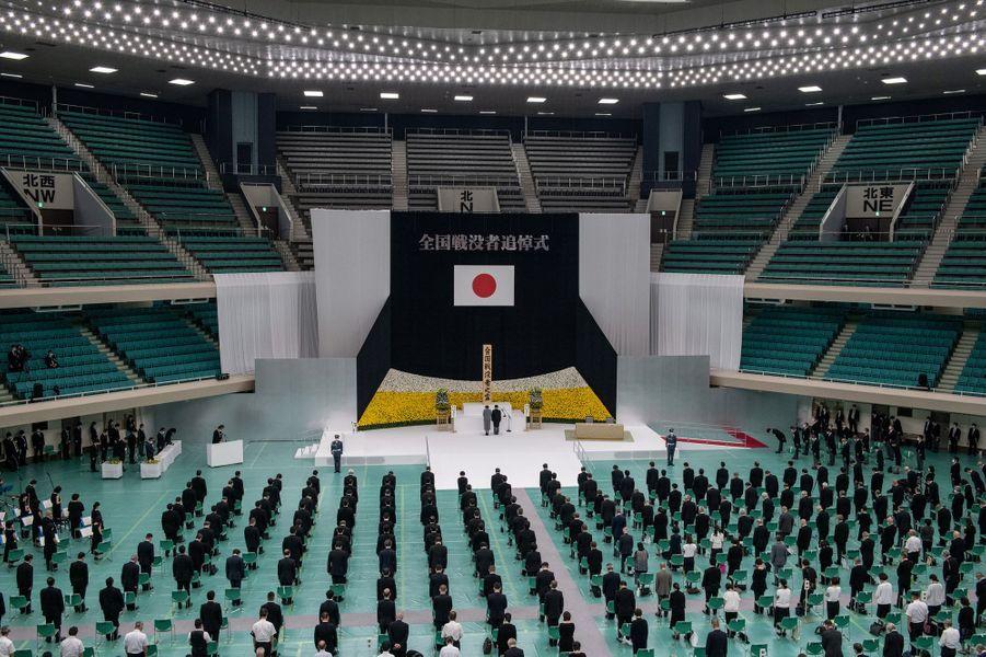 Cérémonie des 75 ans de la fin de la guerre du Pacifique à Tokyo, le 15 août 2020