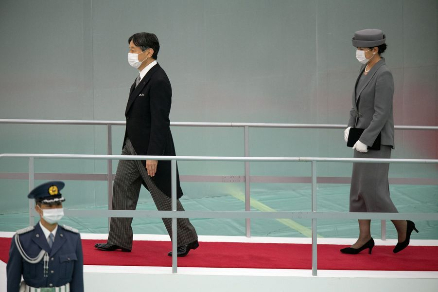 L'empereur du Japon Naruhito et l'impératrice Masako à Tokyo, le 15 août 2020