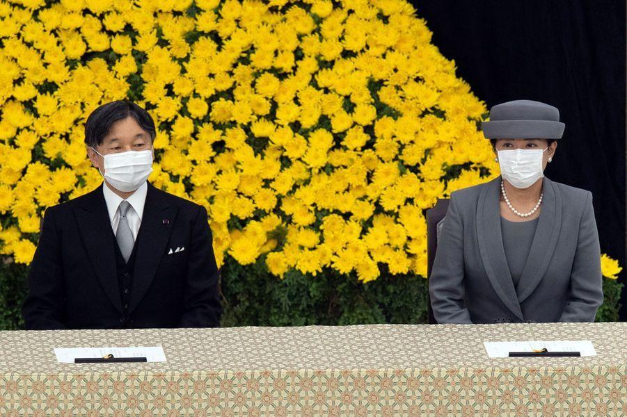 L'empereur Naruhito du Japon et l'impératrice Masako à Tokyo, le 15 août 2020