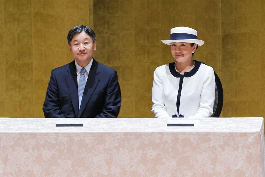 L'impératrice Masako et l'empereur Naruhito du Japon à Yokohama, le 30 juillet 2019