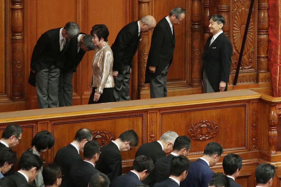 L'empereur Naruhito du Japon au Parlement à Tokyo, le 1er août