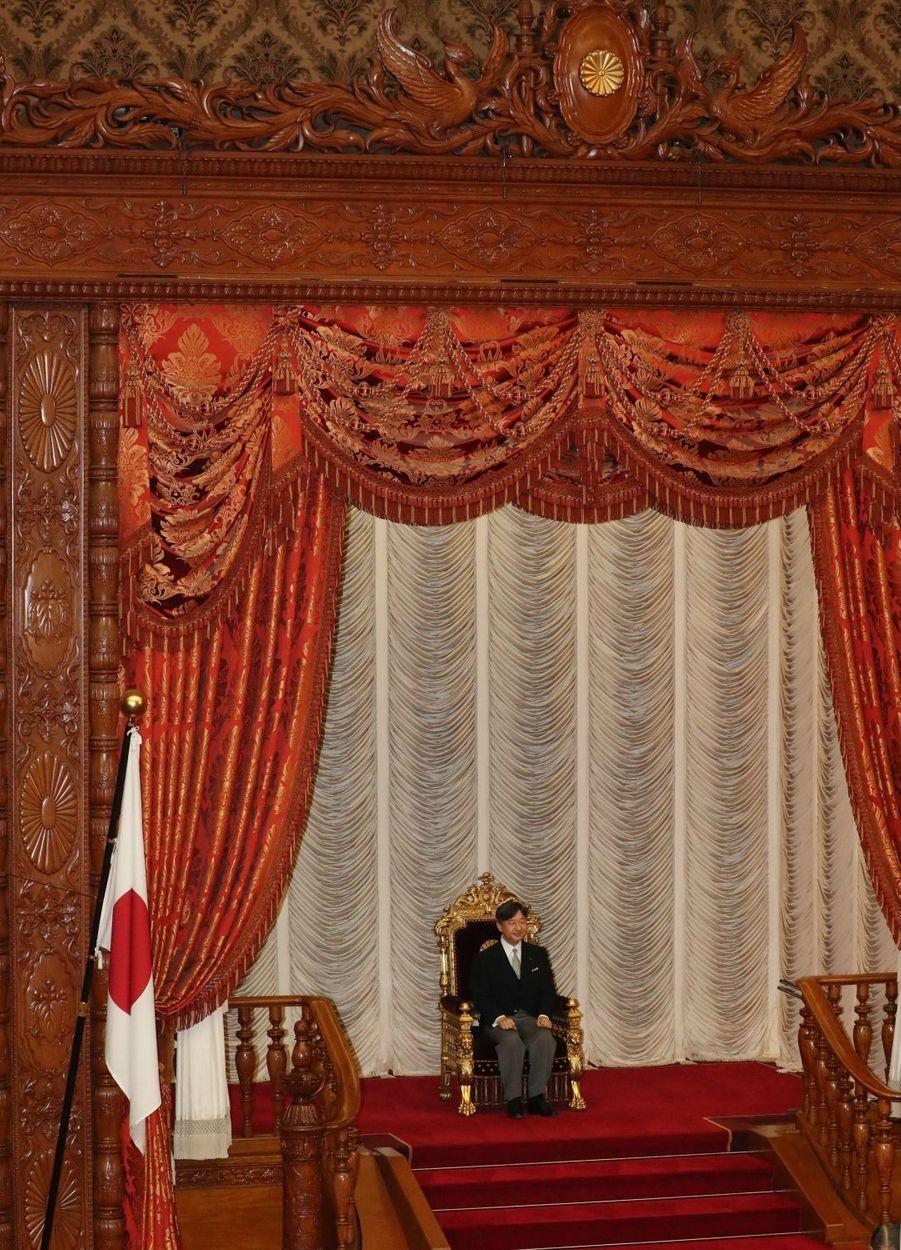 L'empereur du Japon Naruhito au Parlement à Tokyo, le 1er août