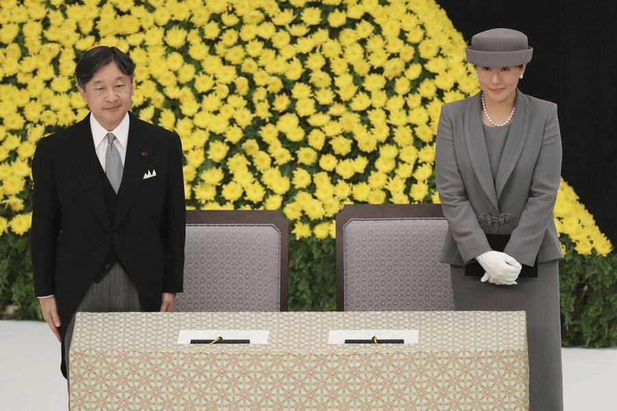 L'empereur Naruhito du Japon et sa femme l'impératrice Masako à Tokyo, le 15 août 2019