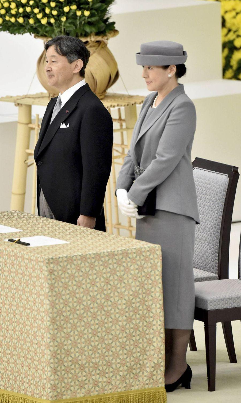 L'empereur Naruhito du Japon et l'impératrice Masako à Tokyo, le 15 août 2019