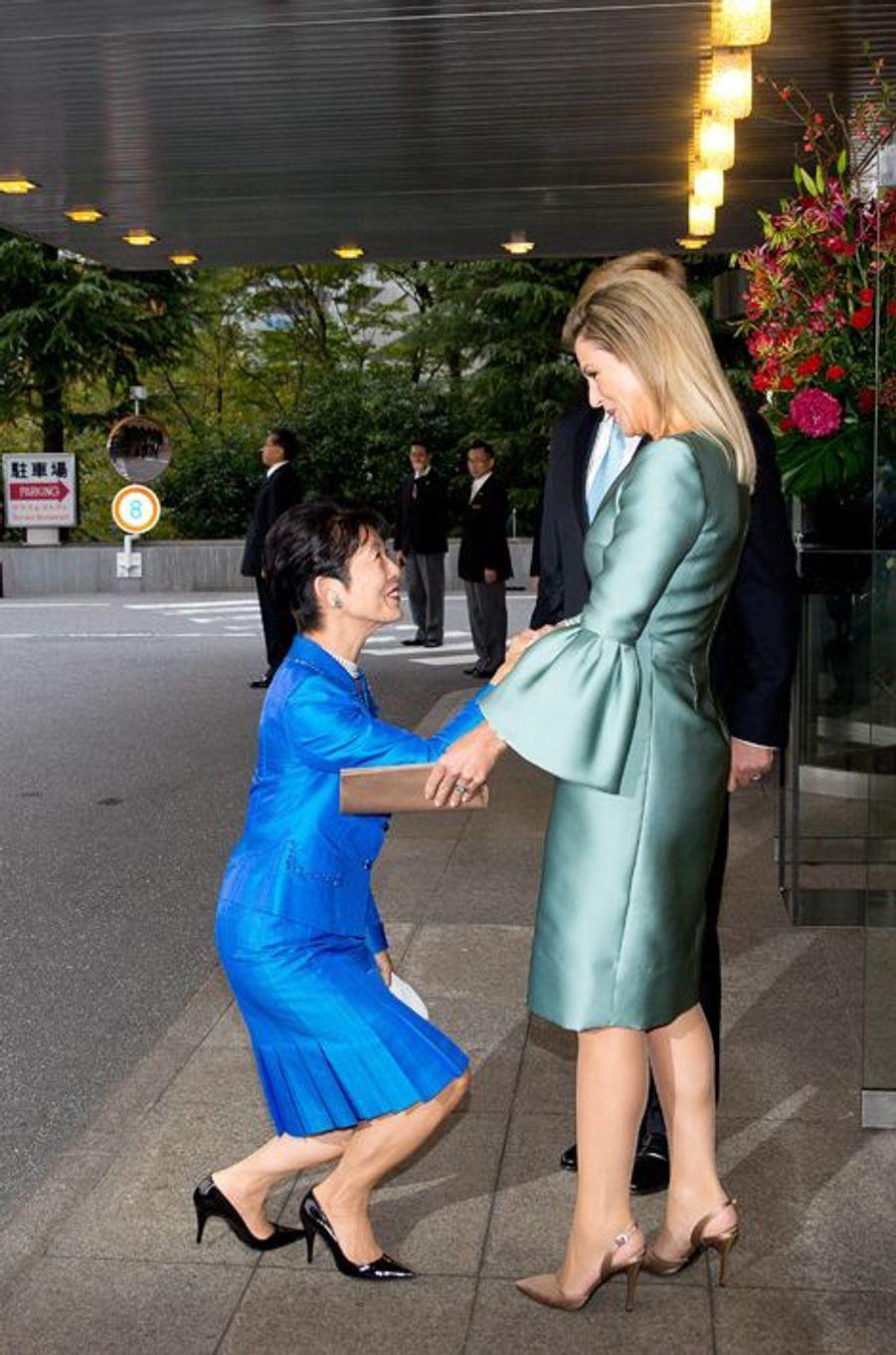 Le roi Willem-Alexander des Pays-Bas et la reine Maxima offrent un concert à la famille impériale à Tokyo, le 31 octobre 2014