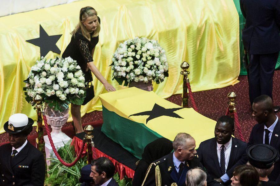 La princesse Mabel des Pays-Bas aux funérailles de Kofi Annan à Accra, le 13 septembre 2018