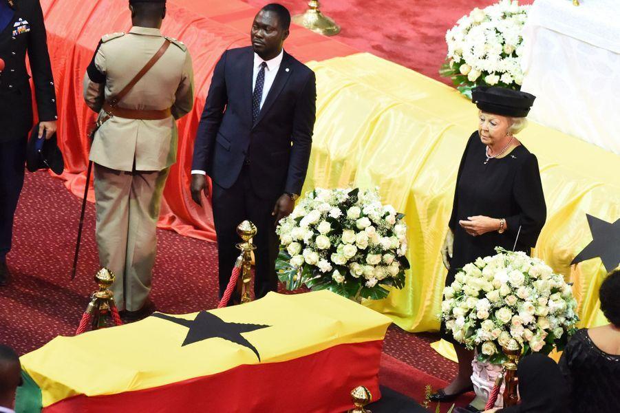L'ex-reine Beatrix des Pays-Bas aux funérailles de Kofi Annan à Accra, le 13 septembre 2018