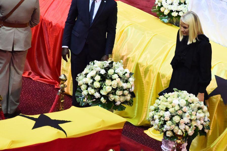 La princesse Mette-Marit de Norvège aux funérailles de Kofi Annan à Accra, le 13 septembre 2018