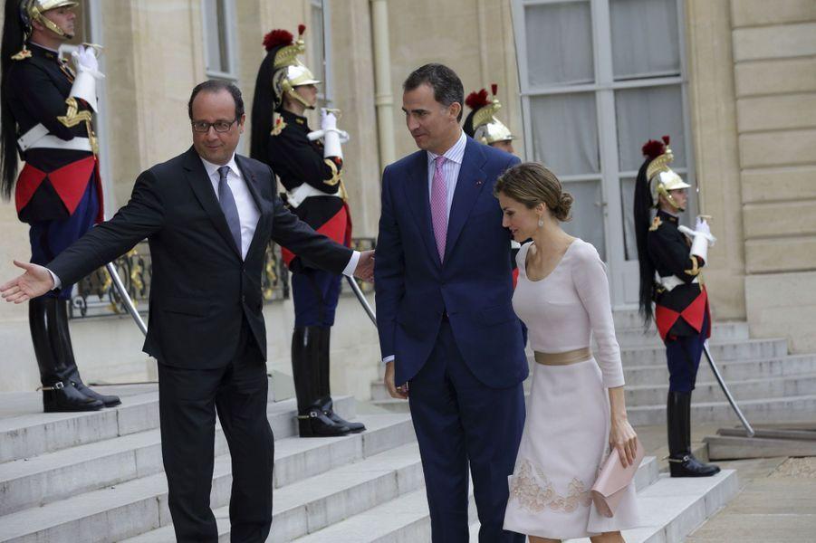 Felipe et Letizia : la France les accueille à l'Elysée