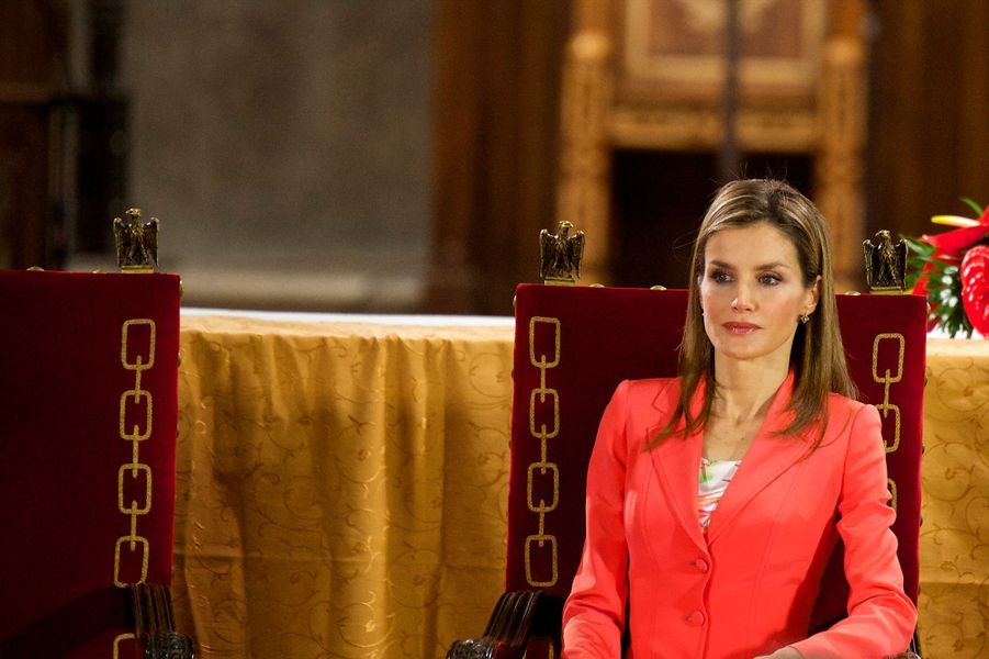 Felipe, Letizia et Juan Carlos comme si de rien n'était...