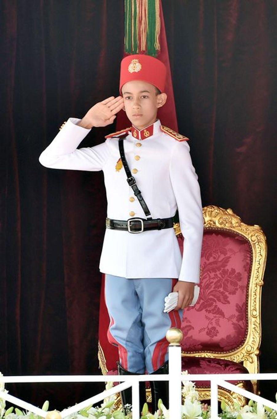 Le prince Moulay El Hassan à Rabat, le 31 juillet 2015