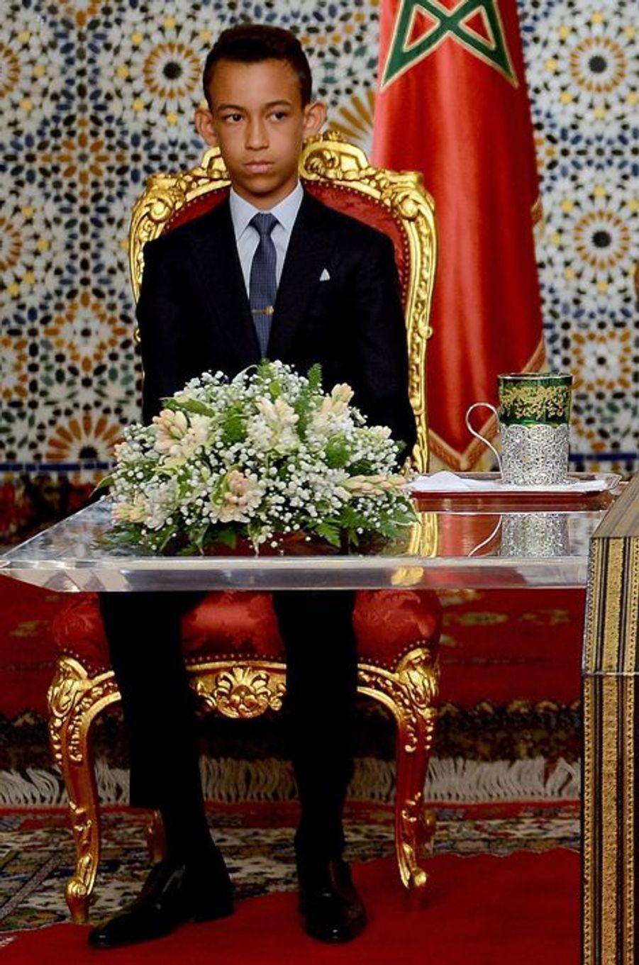 Le prince Moulay El Hassan du Maroc à Rabat, le 30 juillet 2015