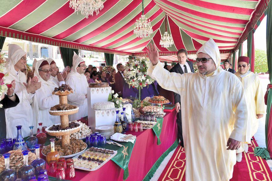 Le roi Mohammed VI du Maroc à Rabat, le 30 juillet 2015