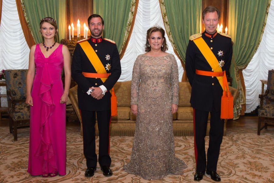 Guillaume et Stéphanie fêtent le Luxembourg en famille