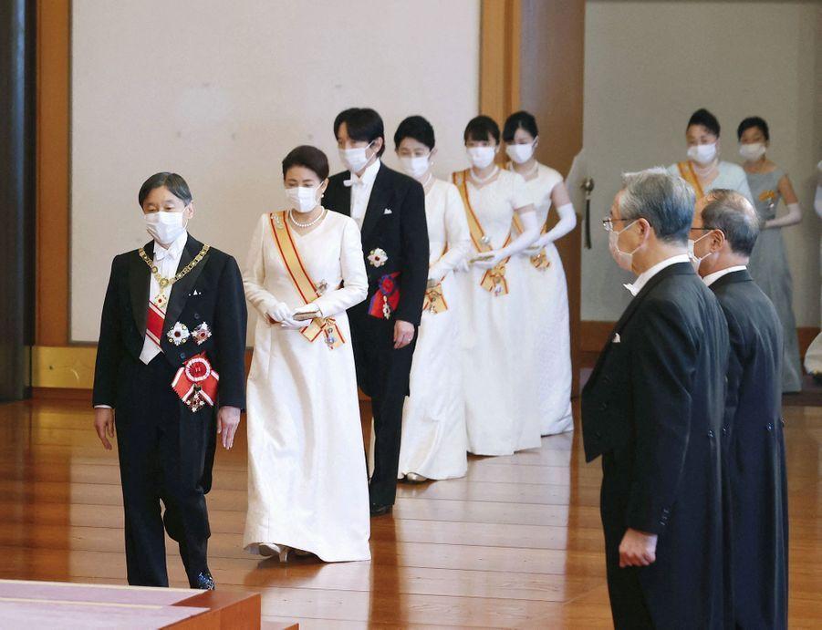 L'empereur Naruhito du Japon, l'impératrice Masako et la famille impériale à Tokyo, le 1er janvier 2021