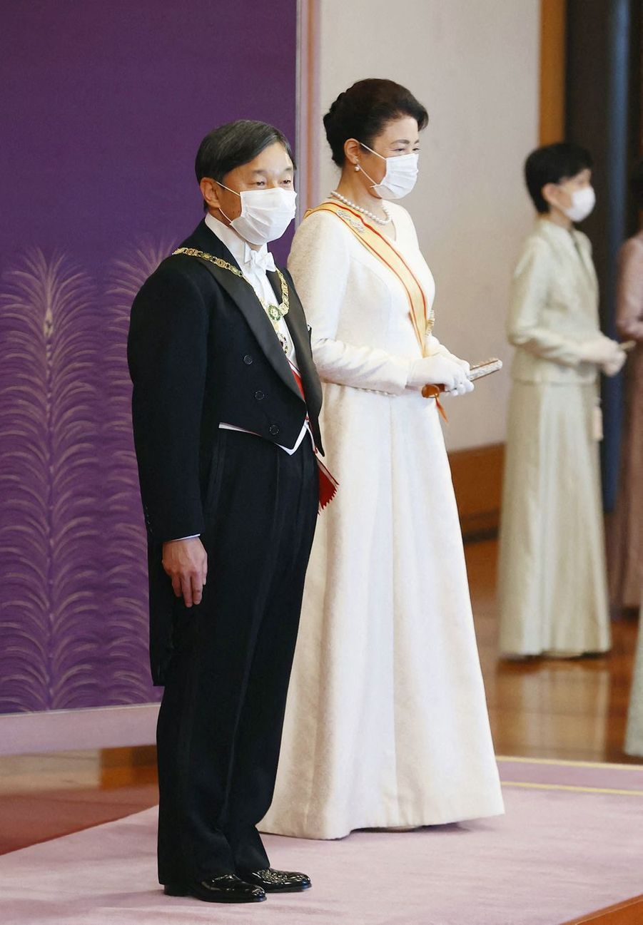 L'empereur Naruhito du Japon et l'impératrice Masako à Tokyo, le 1er janvier 2021