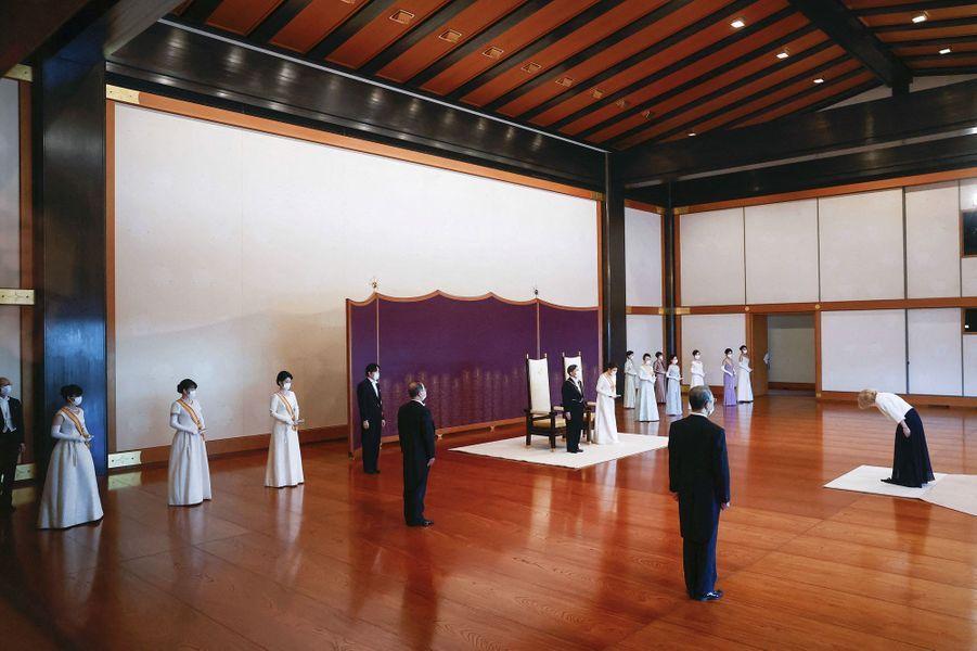 La famille impériale du Japon à Tokyo, le 1er janvier 2021