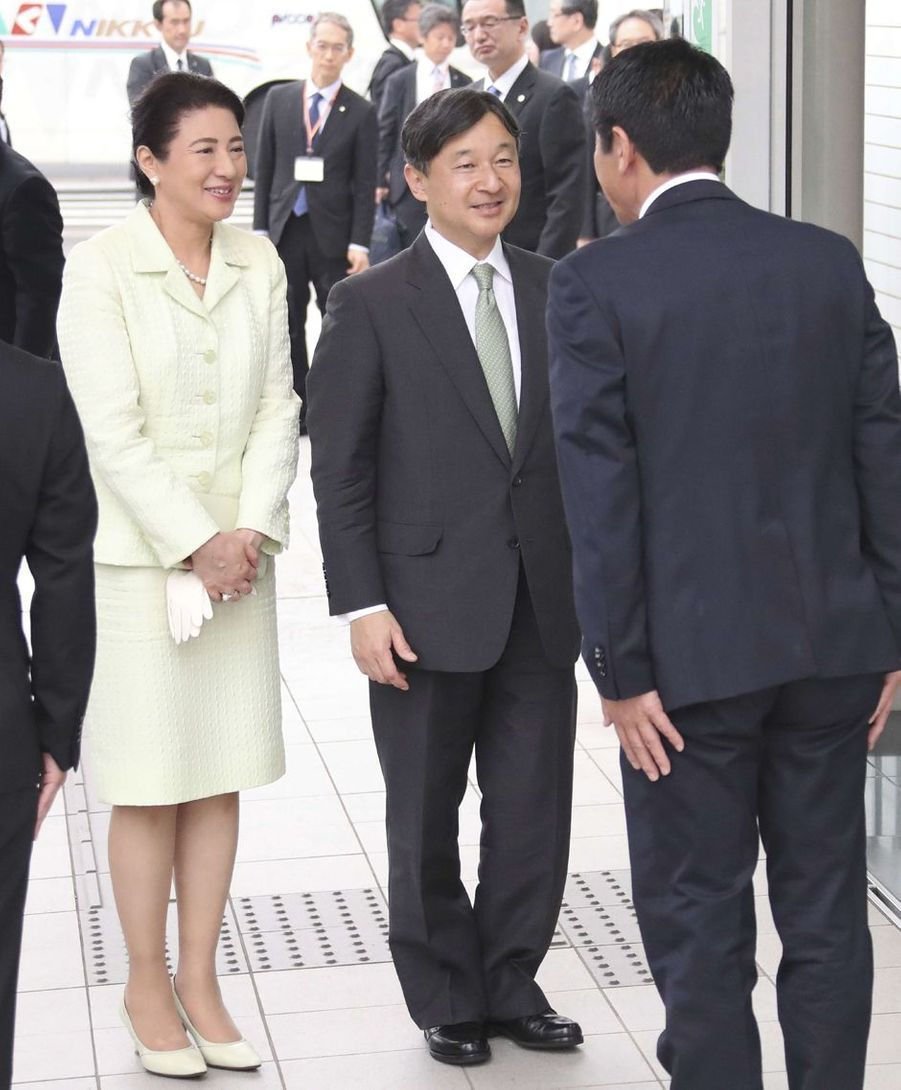 L'impératrice Masako et l'empereur Naruhito du Japon quittent Tokoname, le 2 juin 2019