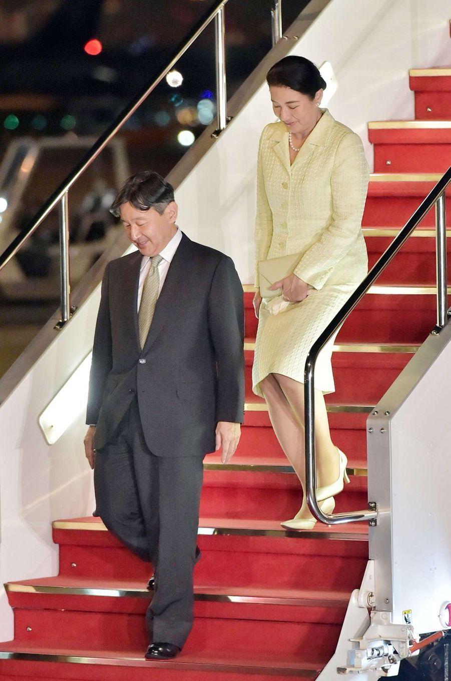 L'impératrice Masako et l'empereur Naruhito du Japon à leur retour à Tokyo, le 2 juin 2019