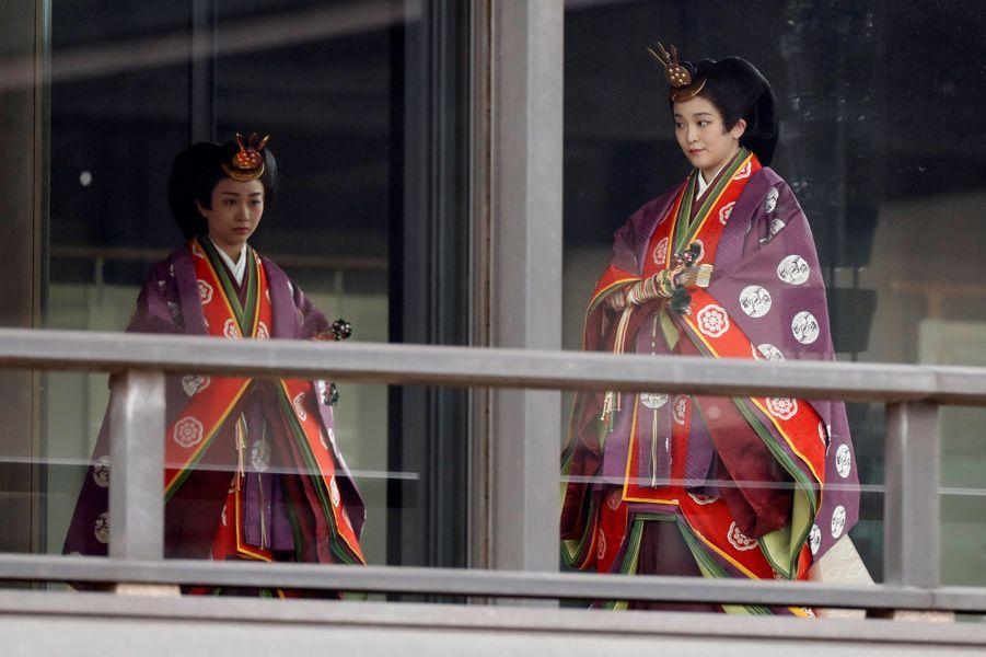 Les princesses Kako et Mako du Japon à Tokyo, le 22 octobre 2019