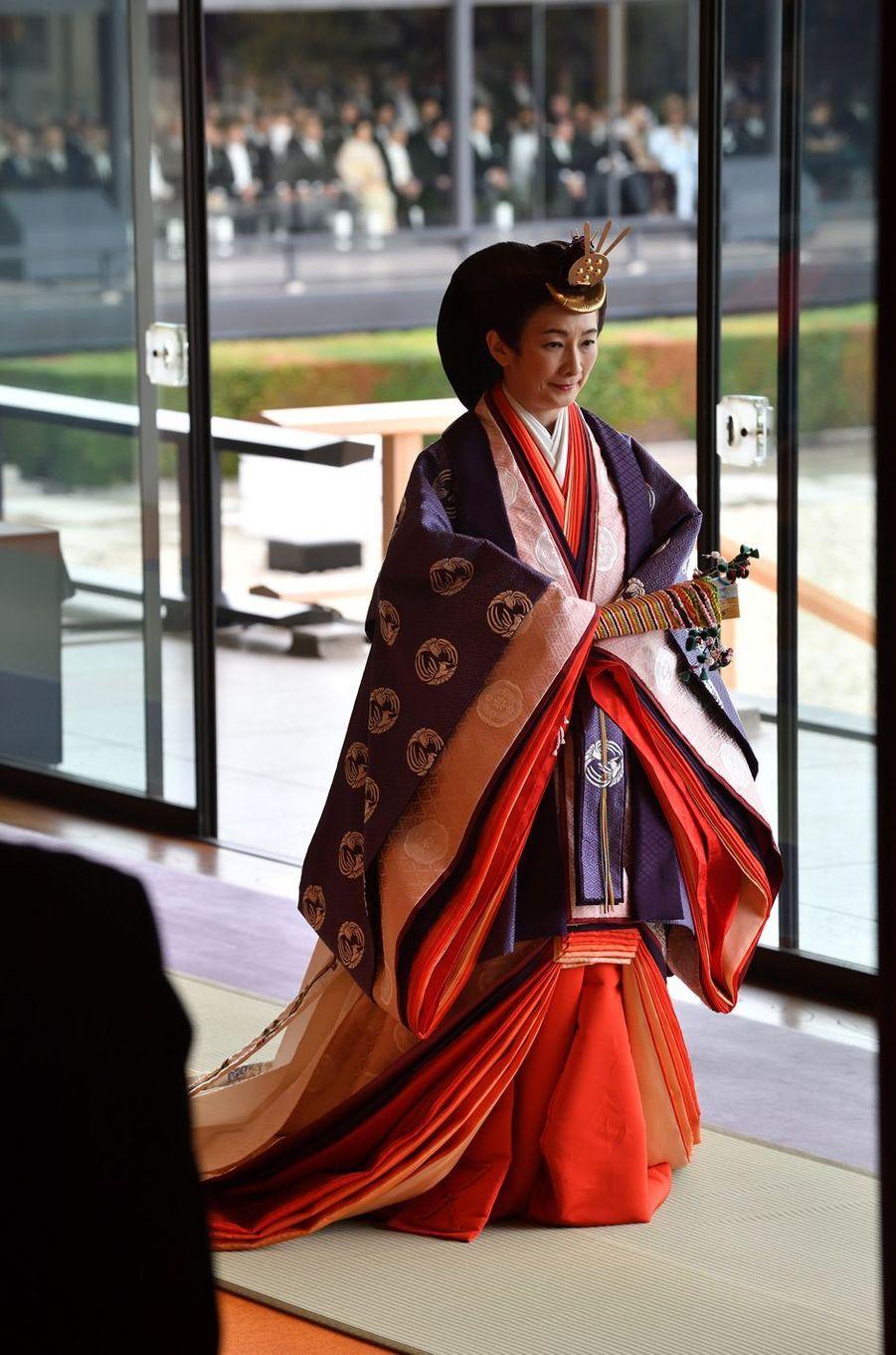 La princesse Kiko du Japon à Tokyo, le 22 octobre 2019
