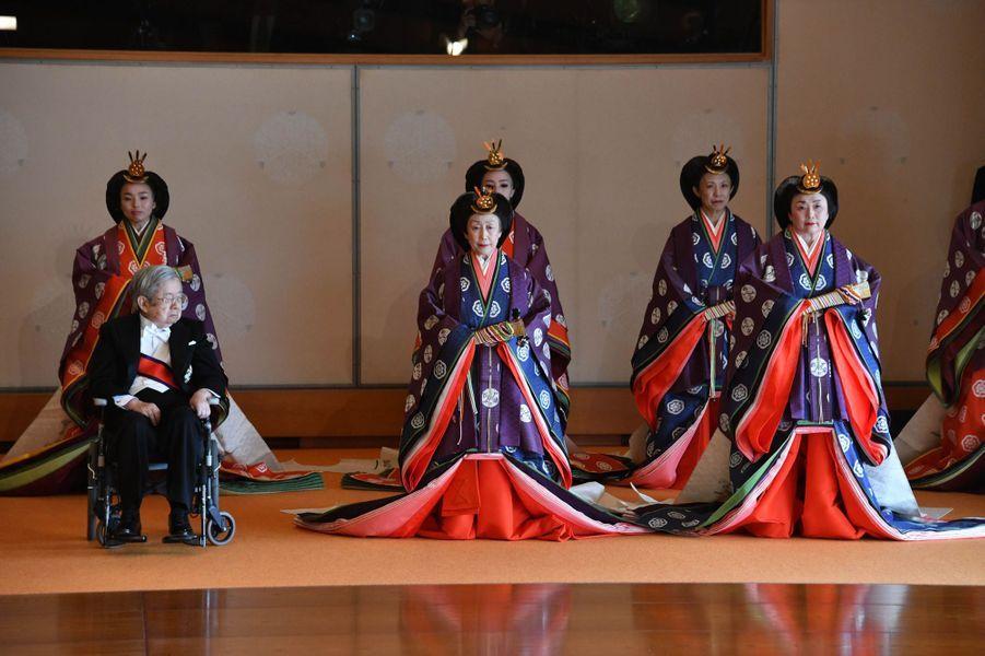 Membres de la famille impériale du Japon à Tokyo, le 22 octobre 2019