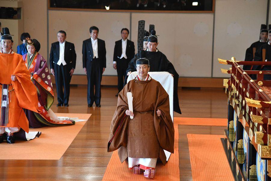 L'empereur Naruhito du Japon lors de son intronisation à Tokyo, le 22 octobre 2019
