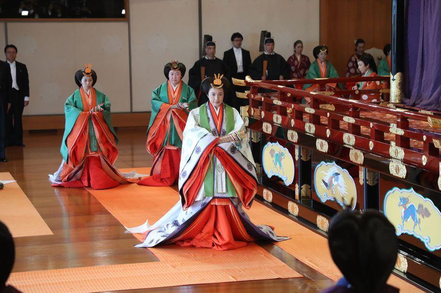 L'impératrice Masako du Japon à Tokyo, le 22 octobre 2019