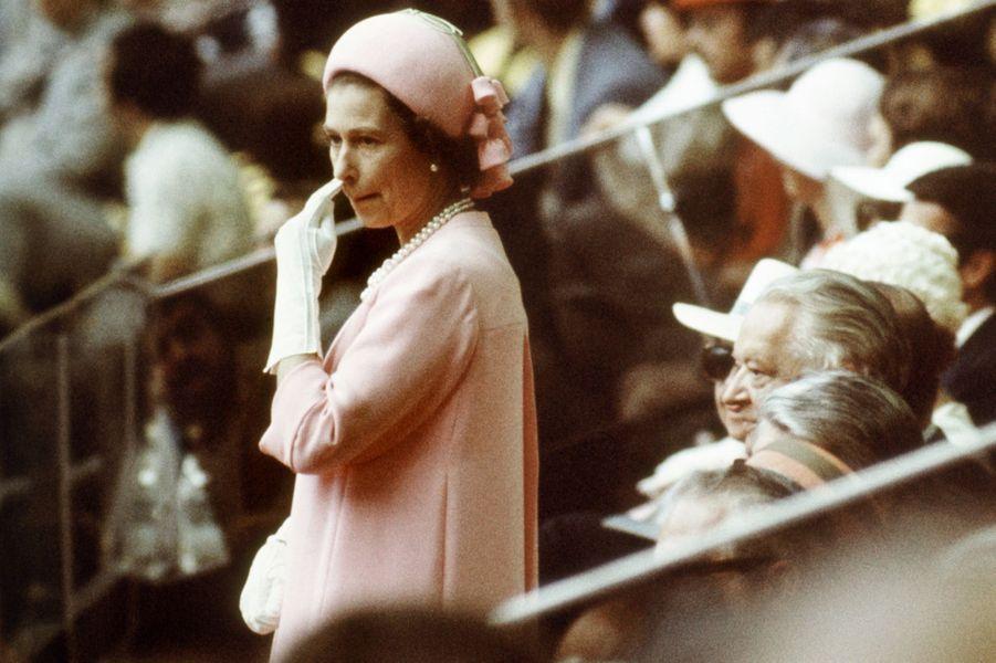 La reine Elizabeth II lors de la cérémonie d'ouverture des JO de Montréal, le 17 juillet 1976