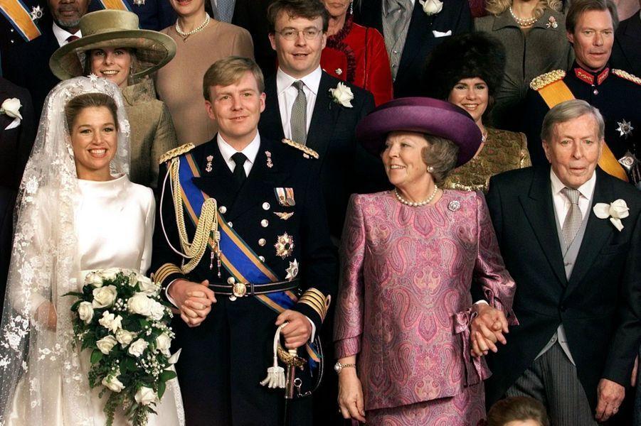 Au mariage de son frère Willem-Alexander, en février 2002