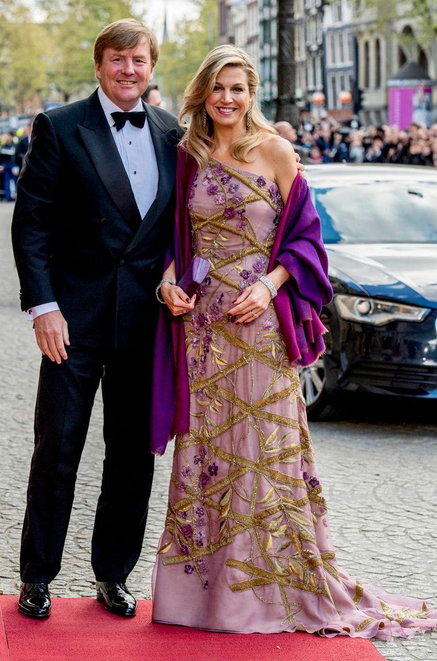 La reine Maxima des Pays-Bas en Jan Taminiau, le 28 avril 2017