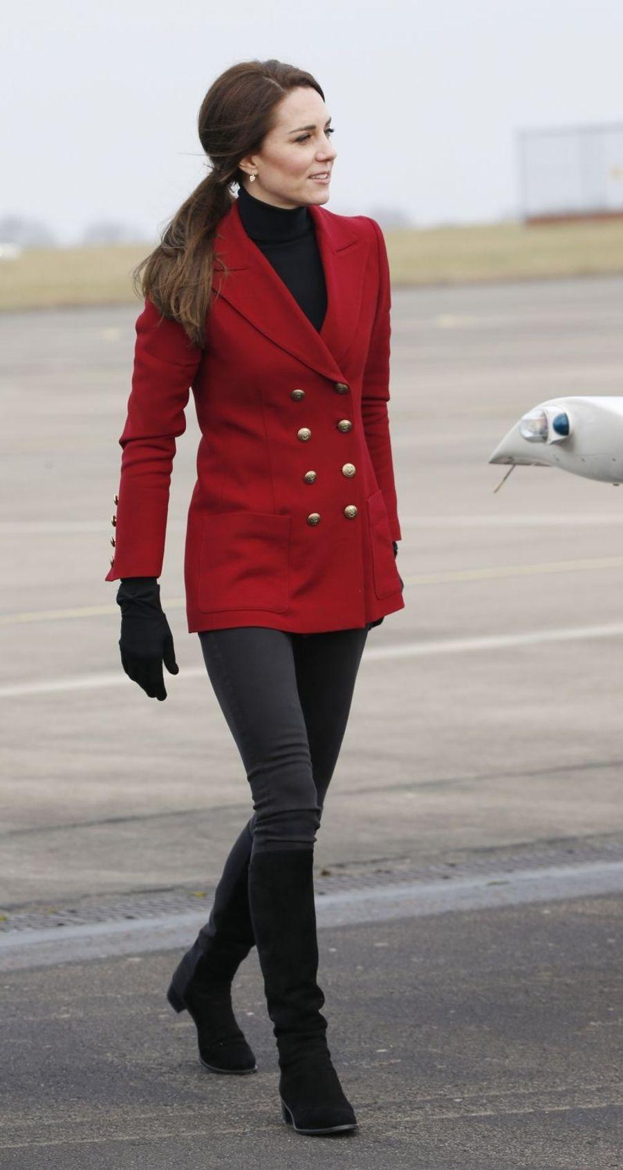 La duchesse Catherine de Cambridge, née Kate Middleton, à Wittering, le 14 février 2017