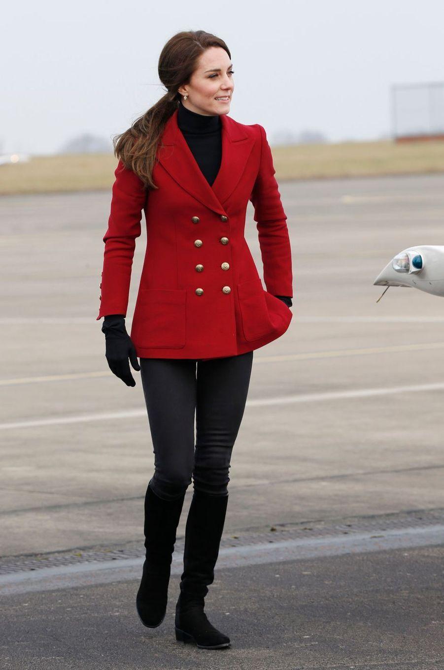 Kate Middleton à Wittering, le 14 février 2017