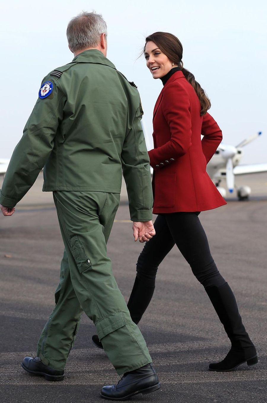 La duchesse Catherine de Cambridge à Wittering, le 14 février 2017