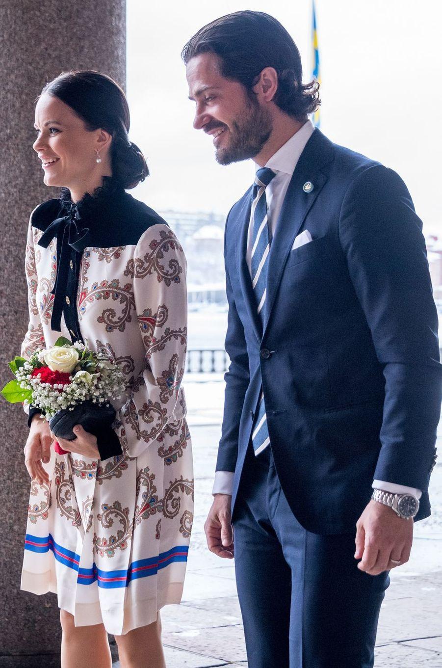 La princesse Sofia de Suède à Stockholm, le 21 février 2017