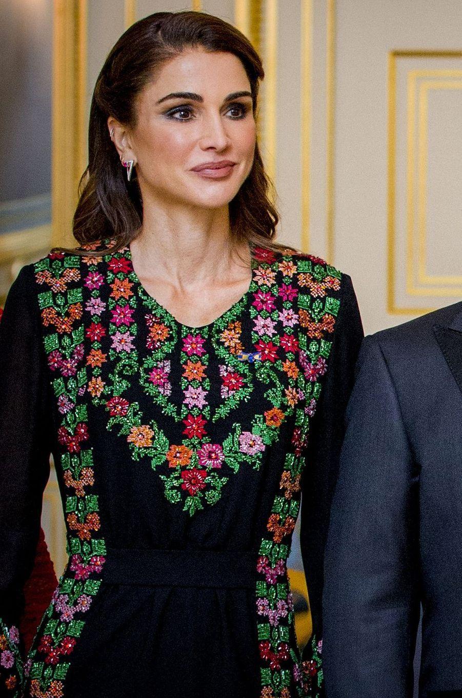 La reine Rania de Jordanie, le 20 mars 2018