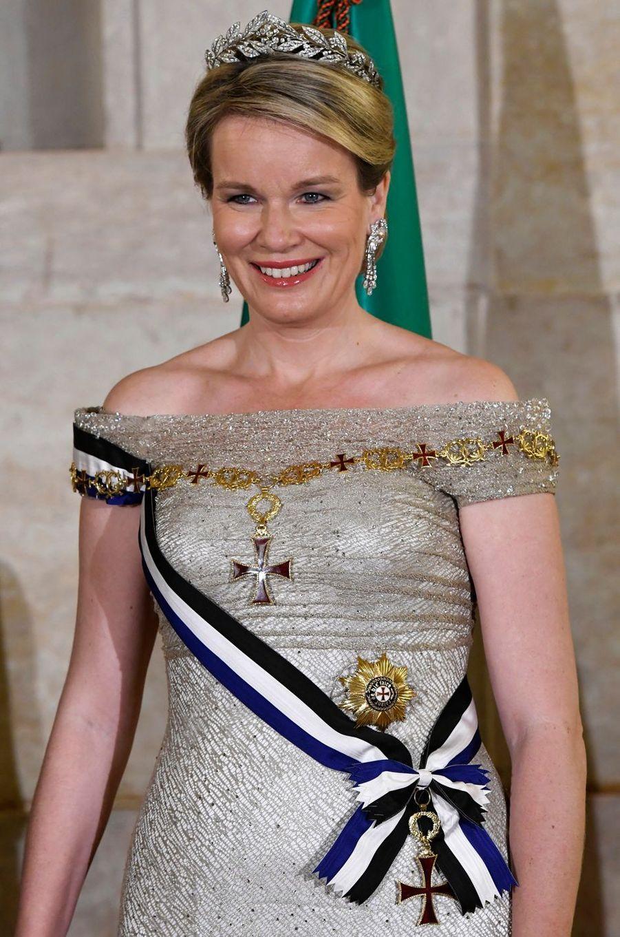 La reine des Belges Mathilde, le 22 octobre 2018