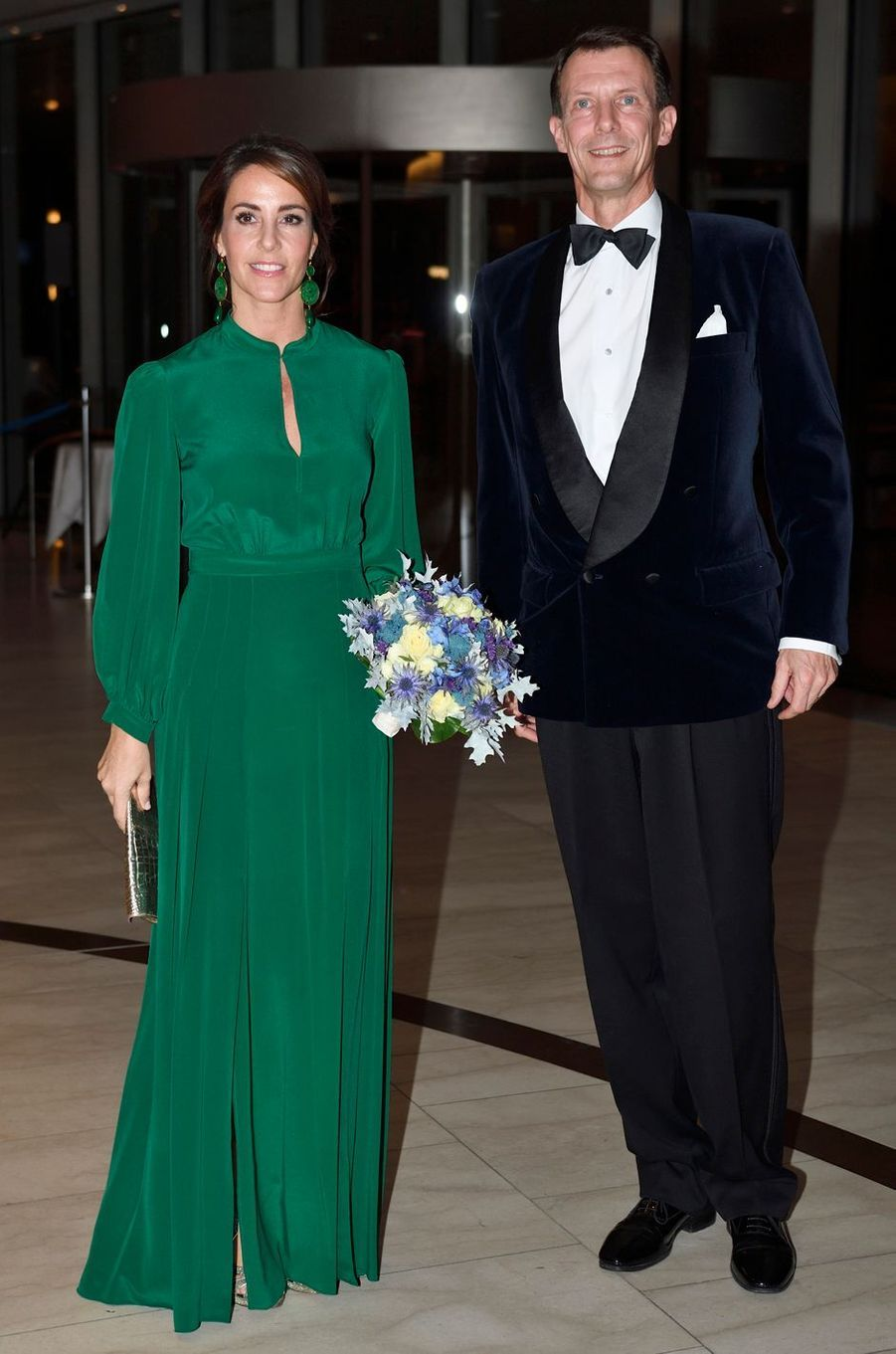 La princesse Marie de Danemark dans une robe Raquel Diniz, le 10 octobre 2018