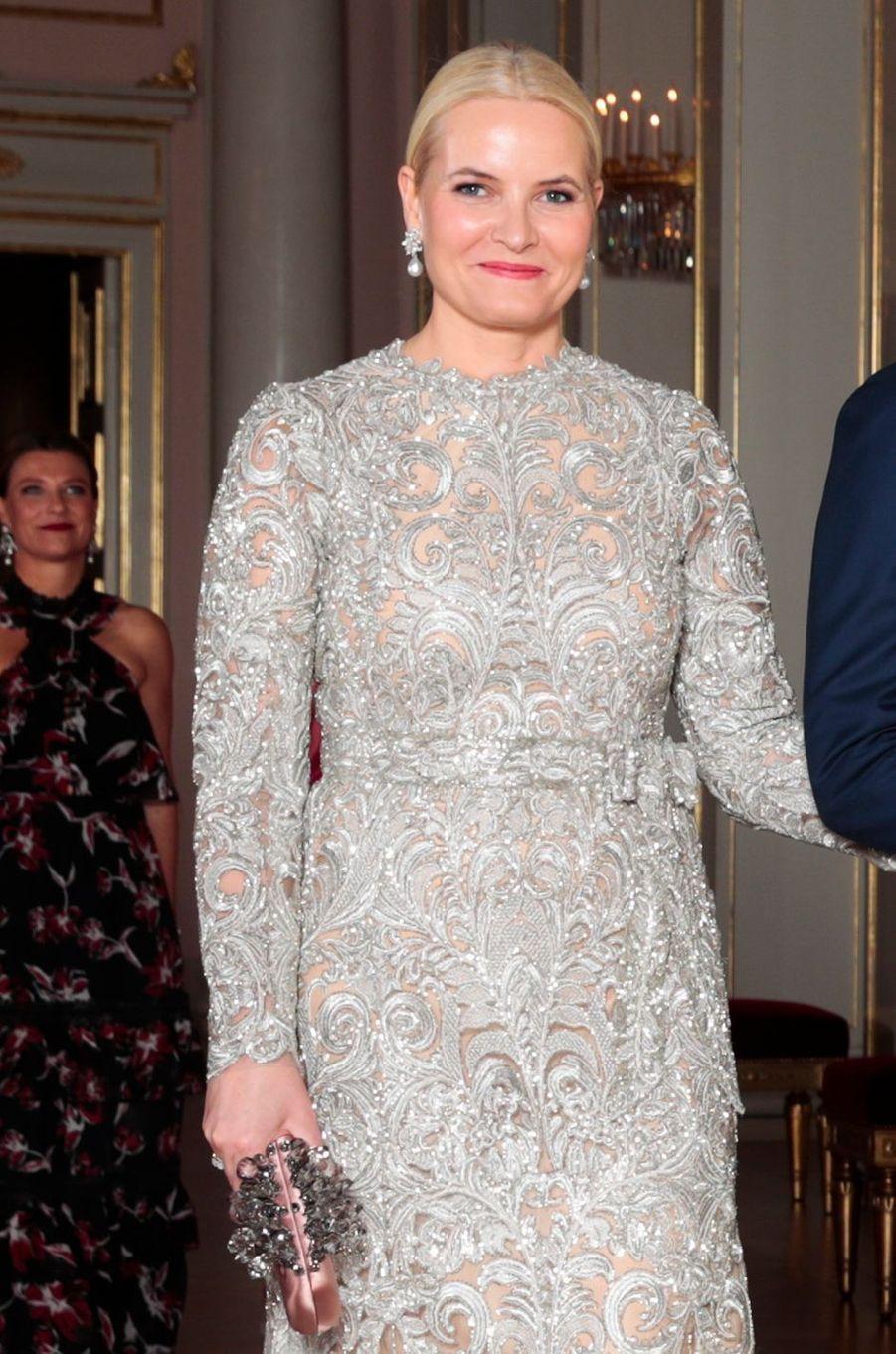 La princesse Mette-Marit de Norvège, le 1er février 2018