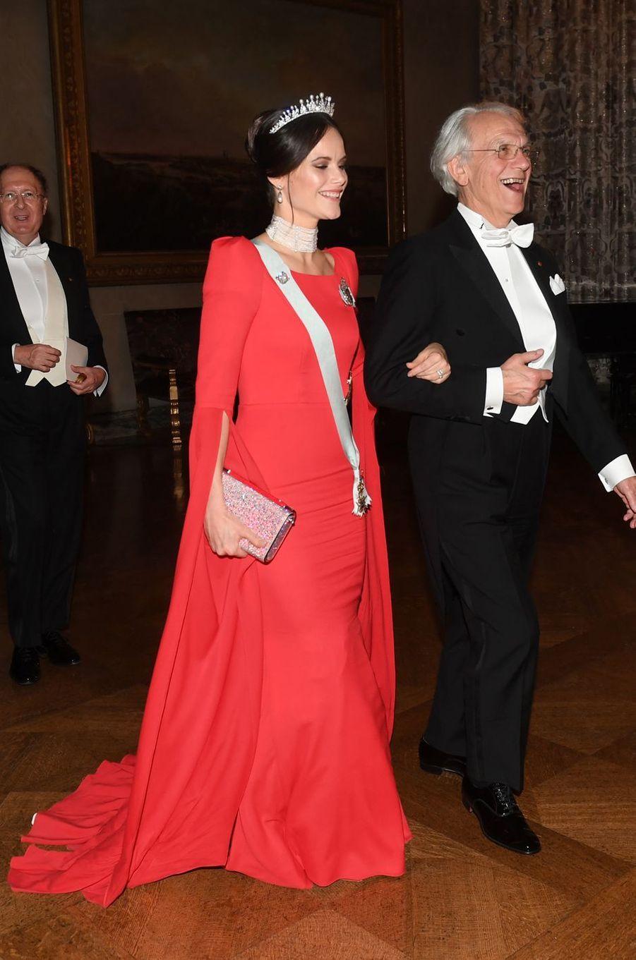 La princesse Sofia de Suède dans une robe Zetterberg couture, le 10 décembre 2018
