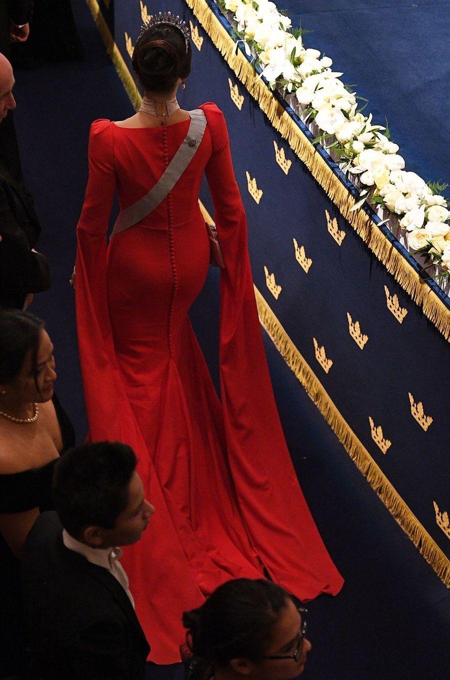 La princesse Sofia de Suède, de dos, le 10 décembre 2018