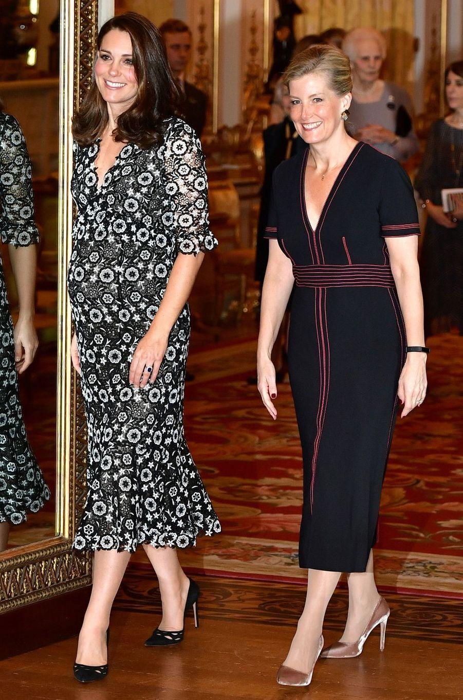 La comtesse Sophie de Wessex dans une robe Burberry, le 19 février 2018