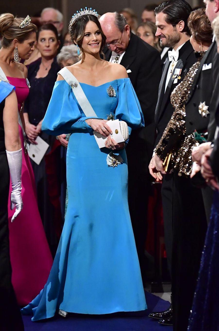 La princesse Sofia de Suède dans une robe Emelie Janrell, à Stockholm le 10 décembre 2019